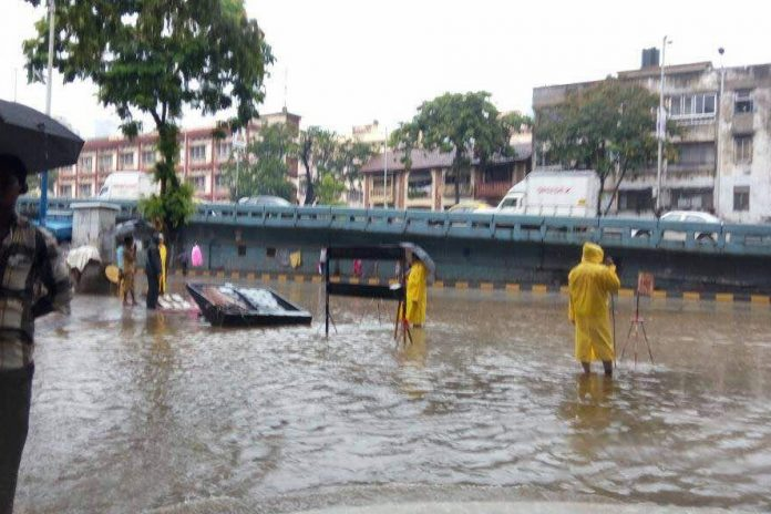 Photo of a flooded area in Mumbai after heavy rains lashed the city