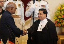 President Ram Nath Kovind with Chief Justice of India Deepak Misra.