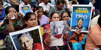 Protests erupts all over the country over the death of Gauri Lankesh's murder