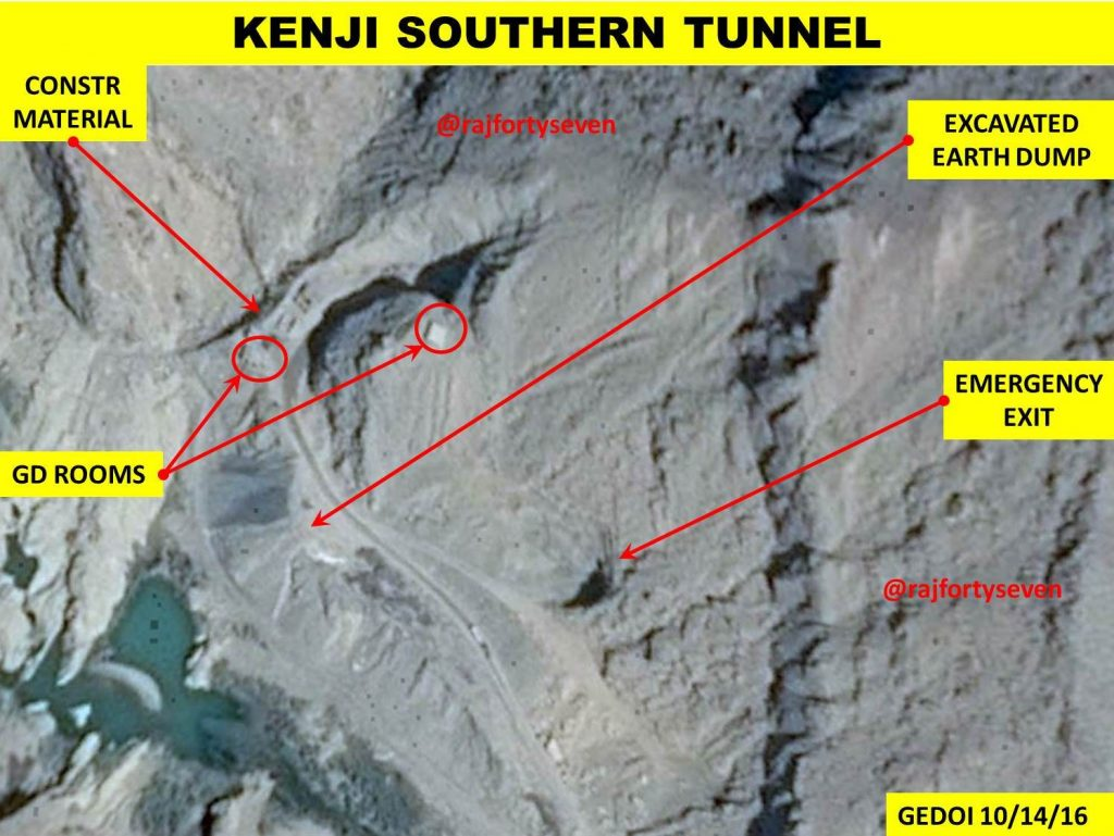 A Google earth image shows the possible layout of the nuclear facility in Baluchistan