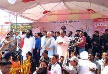 Ram Rahim with M.L. Khattar at an event