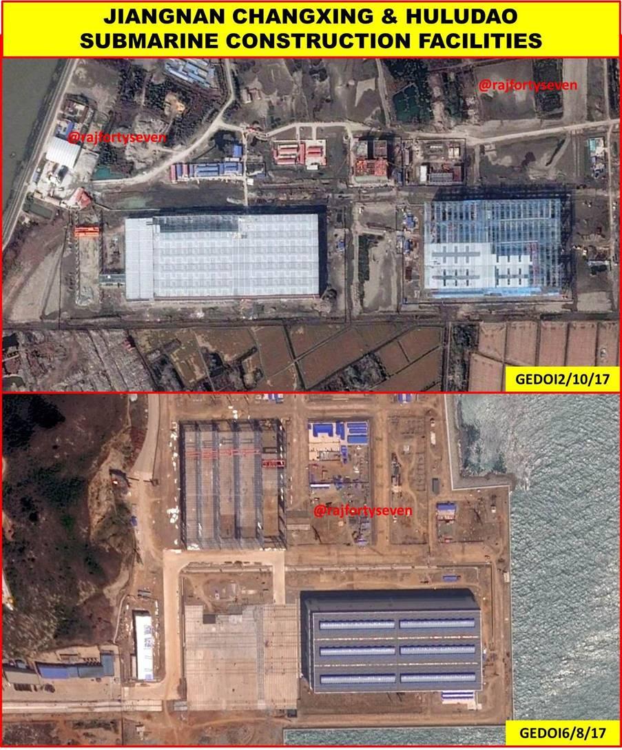 Google earth image of submarine construction facilities