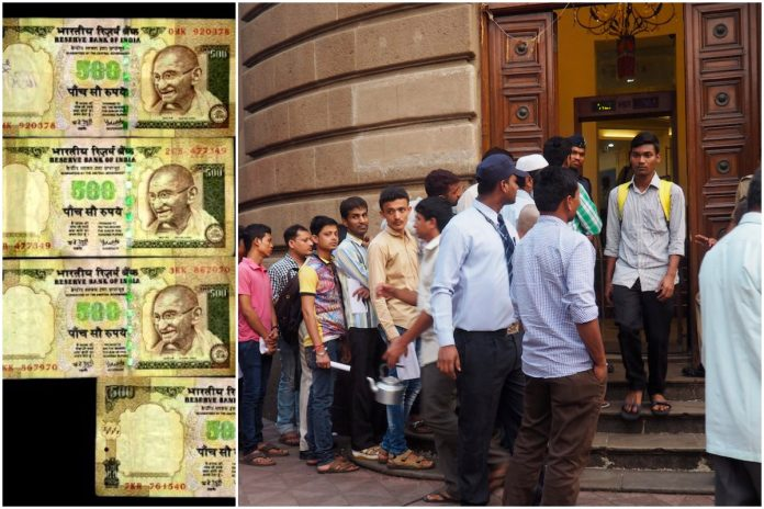Demonetisation of Rs 500 and Rs 1000 notes resulted in long queues to exchange them.