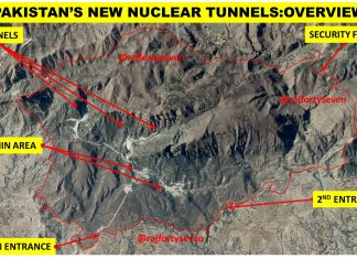 An overview of tunnels in which Pakistan is suspected to be storing nuclear weapons.