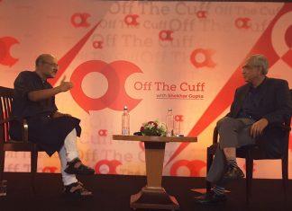 ThePrint's Editor-in-chief Shekhar Gupta with Niti Aayog vice Chairman Rajiv Kumar