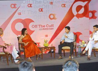 Shekhar Gupta, Ruhi Tewari with Sachin Pilot and Jyotiraditya Scindia on OTC