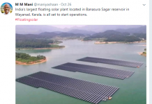 The photo shared by the Kerala Power Minister on Twitter