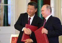 Vladimir Putin and Xi Jinping.