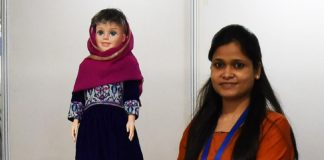 Indian-made doll taking care of pregnant women in remote Afghanistan