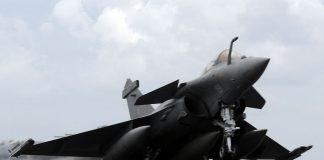 Fighter jet taking off
