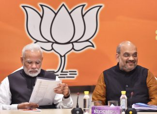 PM Narendra Modi and BJP President Amit Shah during the BJP Central Election Committee (CEC) meeting