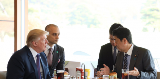 Abe and Trump in Japan