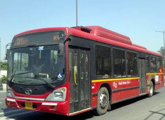 A low floor bus of the DTC