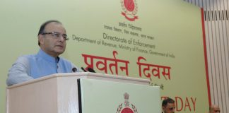 Union Minister for Finance Arun Jaitley addressing a function organised by the Enforcement Directorate.