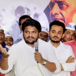 PAAS(Patidar Anamat Aandolan Samiti) Convener Hardik Patel interacts with members of the Patidar community