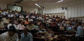 Architects and Professors at a conference at IIT, Bombay. | Photo by Dipak Hazra/Hindustan Times via Getty Images