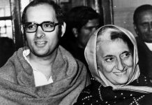 Indira Gandhi with her younger son Sanjay