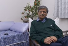Retired Delhi High Court Justice SN Dhingra at his residence in New Delhi