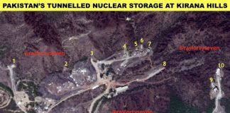 Pakistan nuclear weapons in tunneled storage - Satellite image