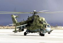 The Mi-24 helicopter. India will help Afghanistan repair Soviet-era choppers