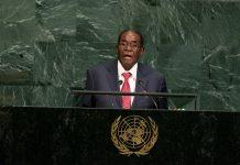 Robert Mugabe addressing the UN General Assembly