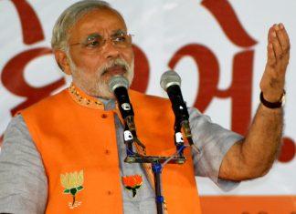 Modi giving a speech