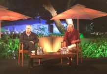 Thomas Friedman and Shekhar Gupta on stage