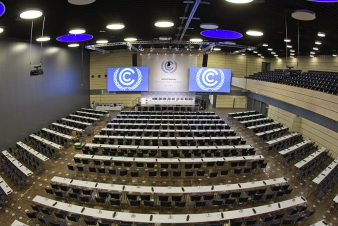 A hall where the summit on climate change will be held in Bonn