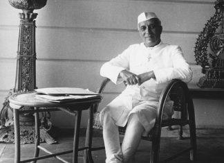 Nehru Seated
