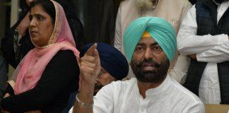 Sukhpal Singh Khaira at a press conference in Punjab Vidhan Sabha | Getty Images