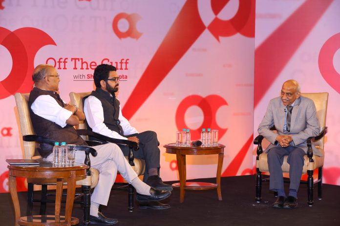 On stage with A.S. Kiran Kumar at Off the Cuff