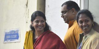 DMK MP Kanimozhi (left) arrives at the Patiala House for the verdict in the 2G scam case on Thursday. |