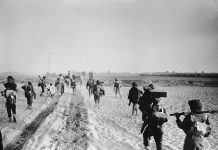 17th December 1971: Indian troops advancing into the East Pakistan (Bangladesh) area during the Indo-Pakistani war