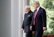 Modi and Trump walking