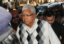 Lalu Prasad Yadav coming out of the CBI Special Court