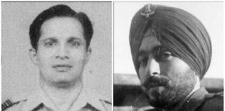 Group Captain Dilip Kamalakar Parulkar (left) and Wing Commander Melvinder Singh Grewal (right)