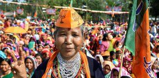A BJP election rally in Ambasa, Tripura