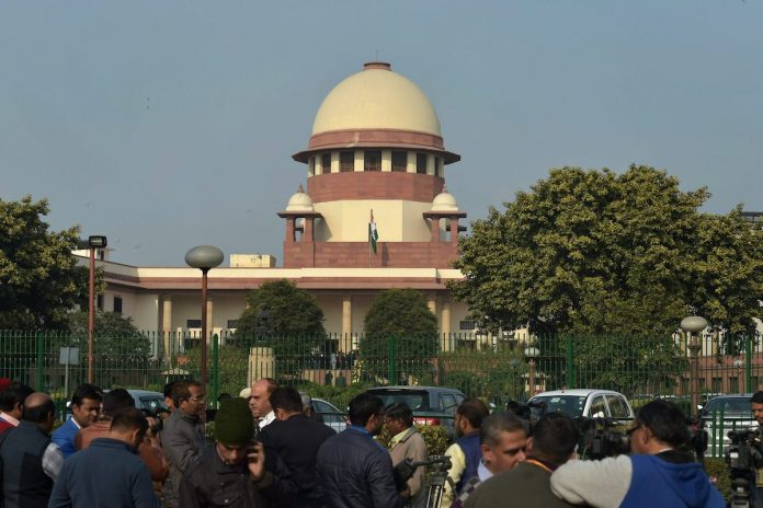 A view of Supreme Court of India in New Delhi on Friday.