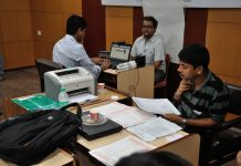 Biometric data collection camp