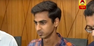 Anuj Loya, the son of deceased CBI court judge B.H. Loya, at the press conference.