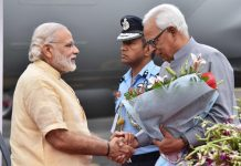 Narendra Modi and N.N Vohra