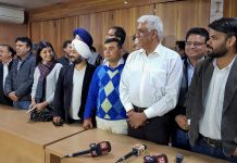 AAP MLAs who were disqualified by the ECI at a press conference at Arvind Kejriwal's residence   PTI Photo