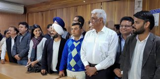 AAP MLAs who were disqualified by the ECI at a press conference at Arvind Kejriwal's residence | PTI Photo