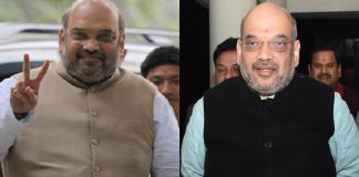 An image showing Amit Shah in 2014 and in 2018.