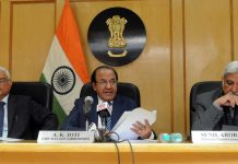 Chief Election Commissioner, Shri Achal Kumar Joti along with the Election Commissioners, Shri O.P. Rawat and Shri Sunil Arora | PIB