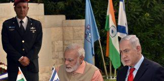 Narendra Modi with Benjamin Netanyahu
