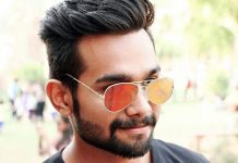 Ankit Saxena wearing shades