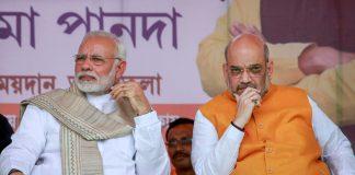 Prime Minister Narendra Modi with BJP National President Amit Shah in Tripura | PTI