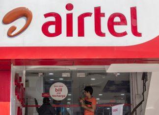 A Bharti Airtel Ltd. store in New Delhi