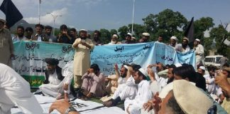 Pashtun traders from Wazirtistan protesting in Islamabad